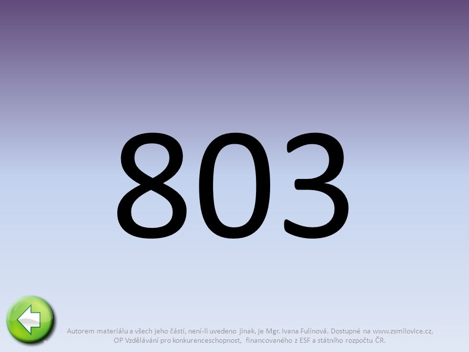 803 Autorem materiálu a všech jeho částí, není-li uvedeno jinak, je Mgr.