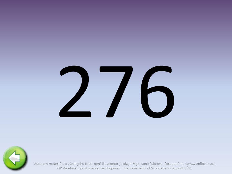 276 Autorem materiálu a všech jeho částí, není-li uvedeno jinak, je Mgr.