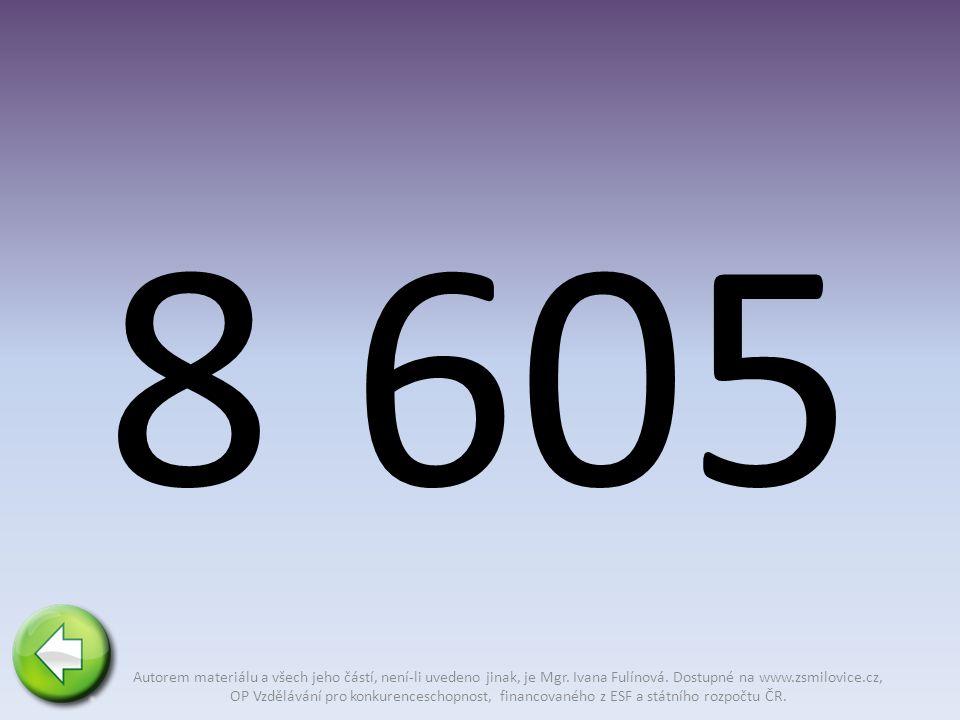 8 605 Autorem materiálu a všech jeho částí, není-li uvedeno jinak, je Mgr.