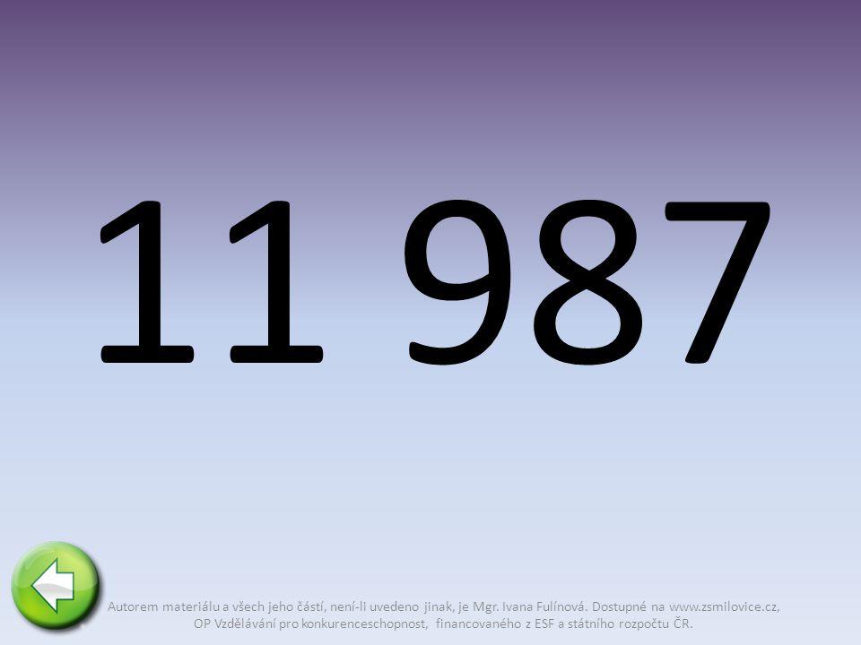11 987 Autorem materiálu a všech jeho částí, není-li uvedeno jinak, je Mgr.
