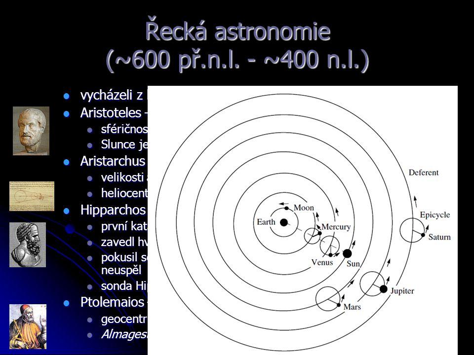 Stručná historie objevů 1917 Shapley – velikost naší Galaxie 1917 Shapley – velikost naší Galaxie 1924 Hubble – vzdálenost galaxie v Andromedě 1924 Hubble – vzdálenost galaxie v Andromedě 1929 Hubble – galaxie se vzdalují – vesmír se rozpíná 1929 Hubble – galaxie se vzdalují – vesmír se rozpíná Kosmologie velkého třesku Kosmologie velkého třesku
