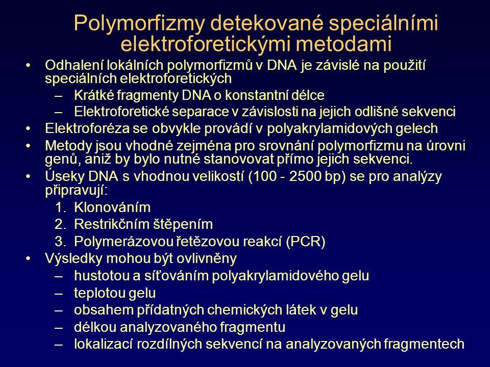 Polymorfizmus délky fragmentů vytvořených štěpením enzymem Cleavase (Cleavase Fragment Length Polymorphisms - CFLP) Diagnostická metoda, která využívá enzymu kleavázy k detekci a lokalizaci polymorfizmů v jednořetězcové DNA Optimální velikost fragmentů pro tuto analýzu je do 2700 bp.