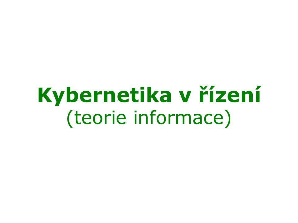 Kybernetika v řízení (teorie informace)