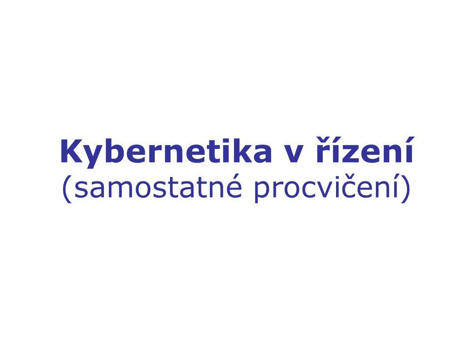 Kybernetika v řízení (samostatné procvičení)