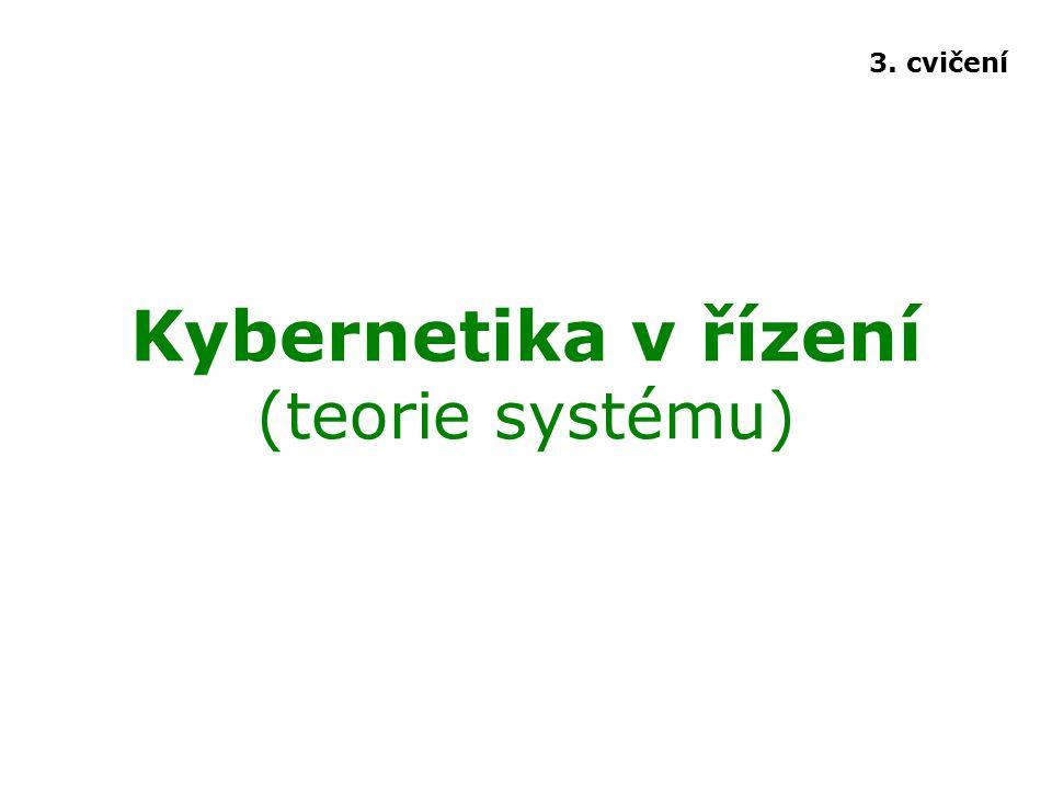 Kybernetika v řízení (teorie systému) 3. cvičení