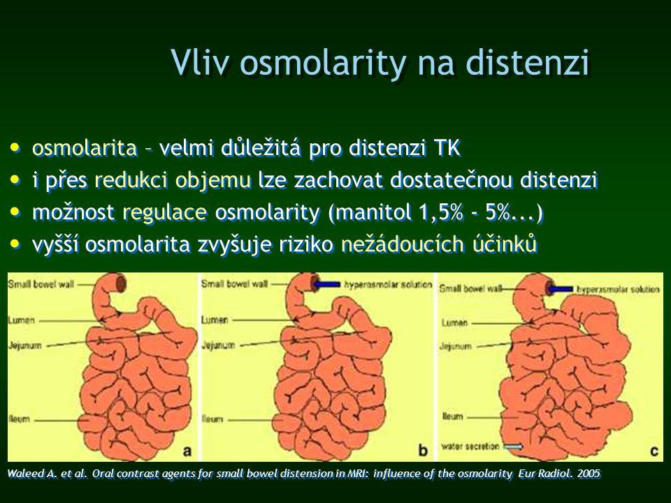 Vliv osmolarity na distenzi osmolarita – velmi důležitá pro distenzi TK i přes redukci objemu lze zachovat dostatečnou distenzi možnost regulace osmol