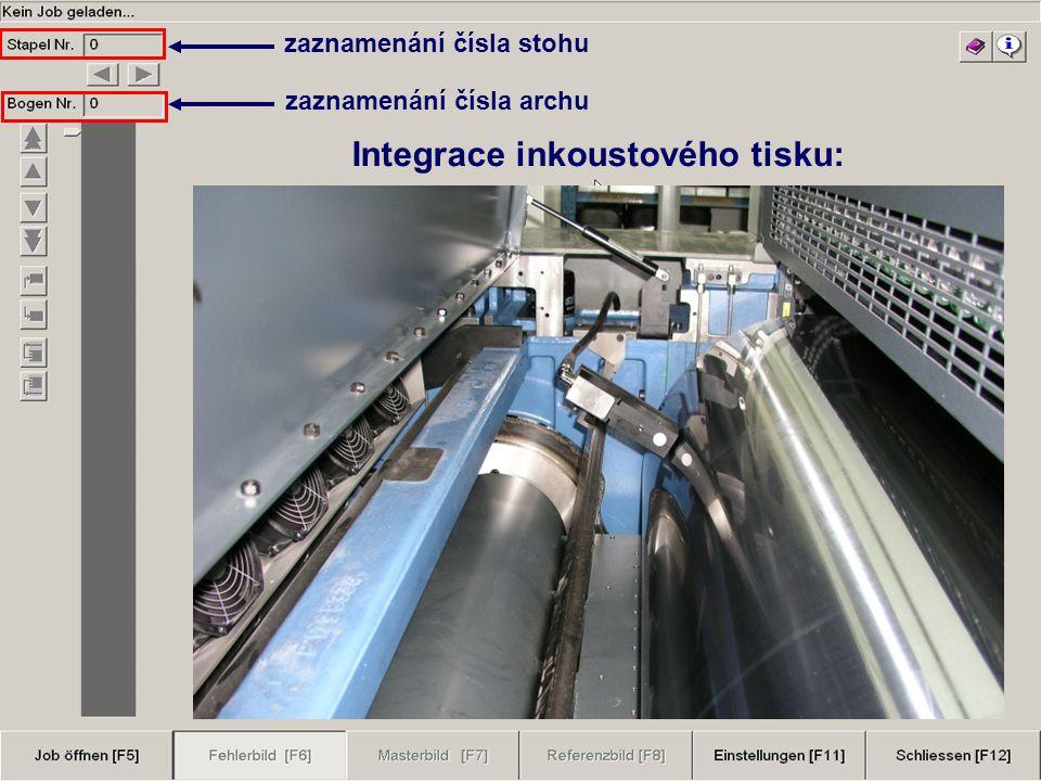  KBA, Willeke, Print Fórum Praha 2007 Integrace inkoustového tisku: zaznamenání čísla archu zaznamenání čísla stohu