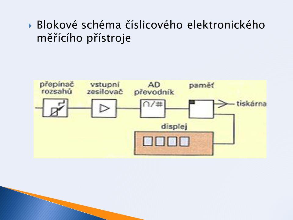  Blokové schéma číslicového elektronického měřícího přístroje