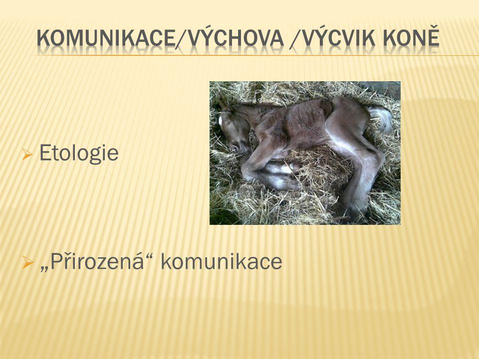 """ Etologie  """" Přirozená"""" komunikace"""