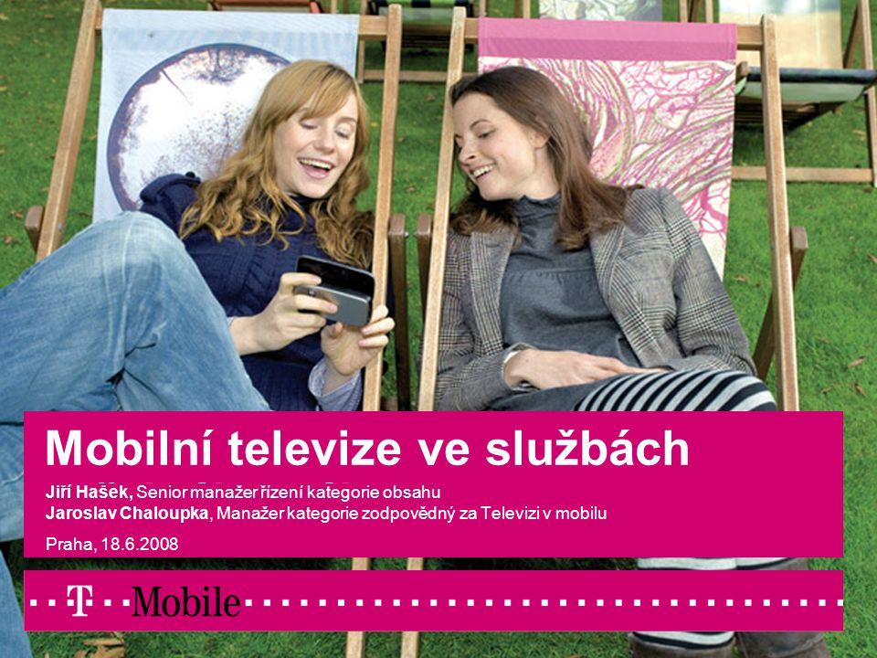 T-Mobile Czech / Mobilní televize2 Obsah  Principy fungování mobilní televize  V čem se liší mobilní televize od analogové teresteriální televize  Ukázky praktického využití výhod mobilní TV pro uspokojení veřejného zájmu  Uspokojování zájmů menšin  Krizové zpravodajství