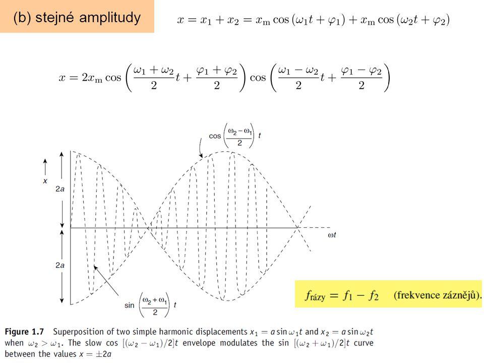 (b) stejné amplitudy