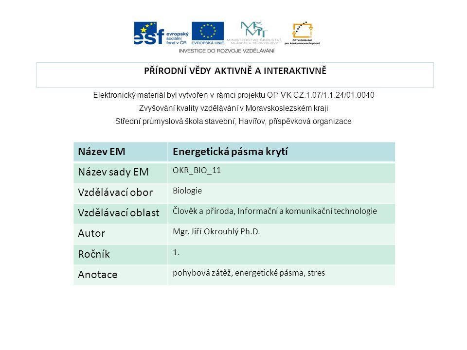 Elektronický materiál byl vytvořen v rámci projektu OP VK CZ.1.07/1.1.24/01.0040 Zvyšování kvality vzdělávání v Moravskoslezském kraji Střední průmysl