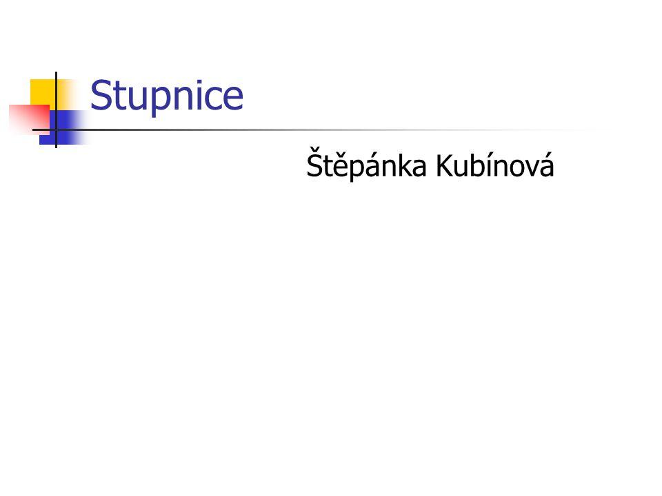 Stupnice Štěpánka Kubínová