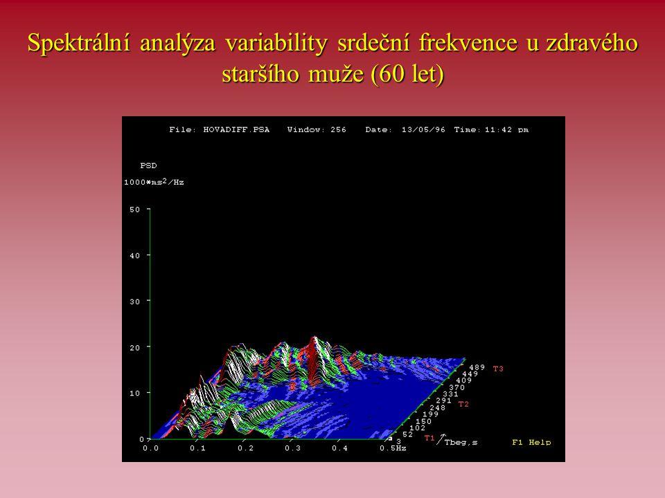 Spektrální analýza variability srdeční frekvence u zdravého staršího muže (60 let)