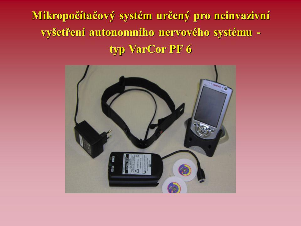 Paralelní záznam EKG, kardiotachogramu a spektrální analýzy variability srdeční frekvence