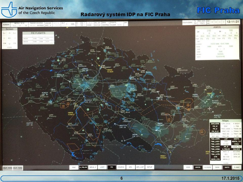 6 Radarový systém IDP na FIC Praha 17.1.2015