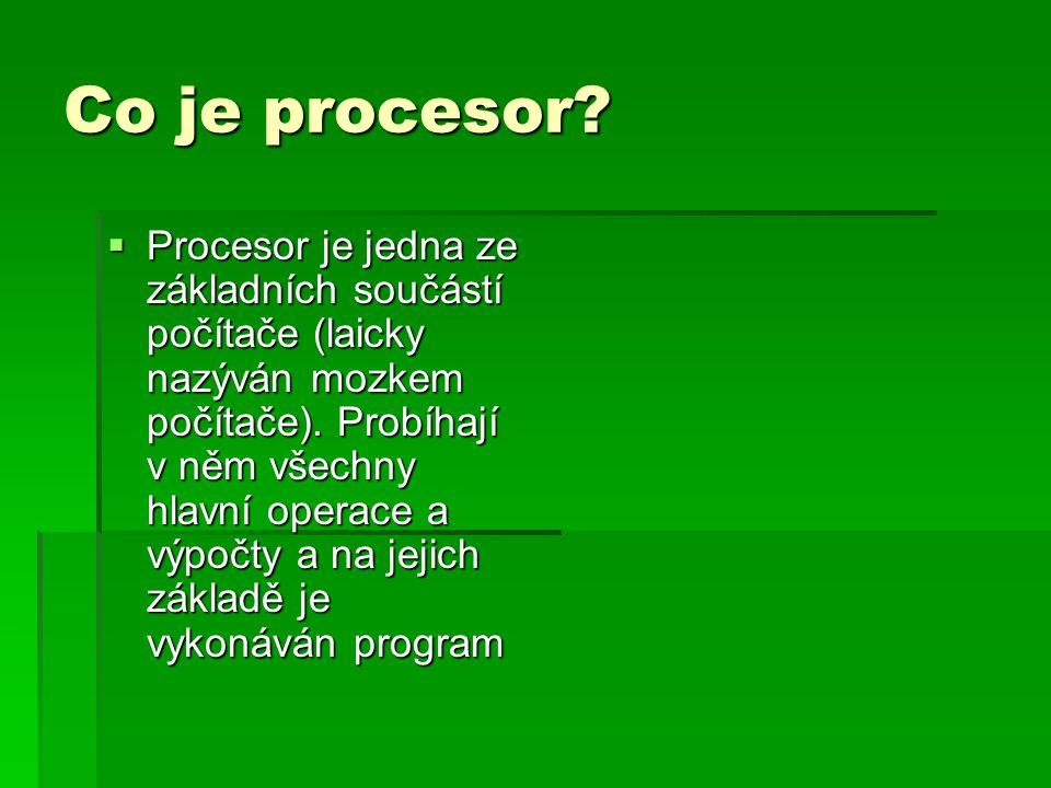 Dělení procesorů. CISC a RISC.