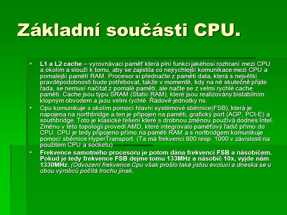 Základní součásti CPU.
