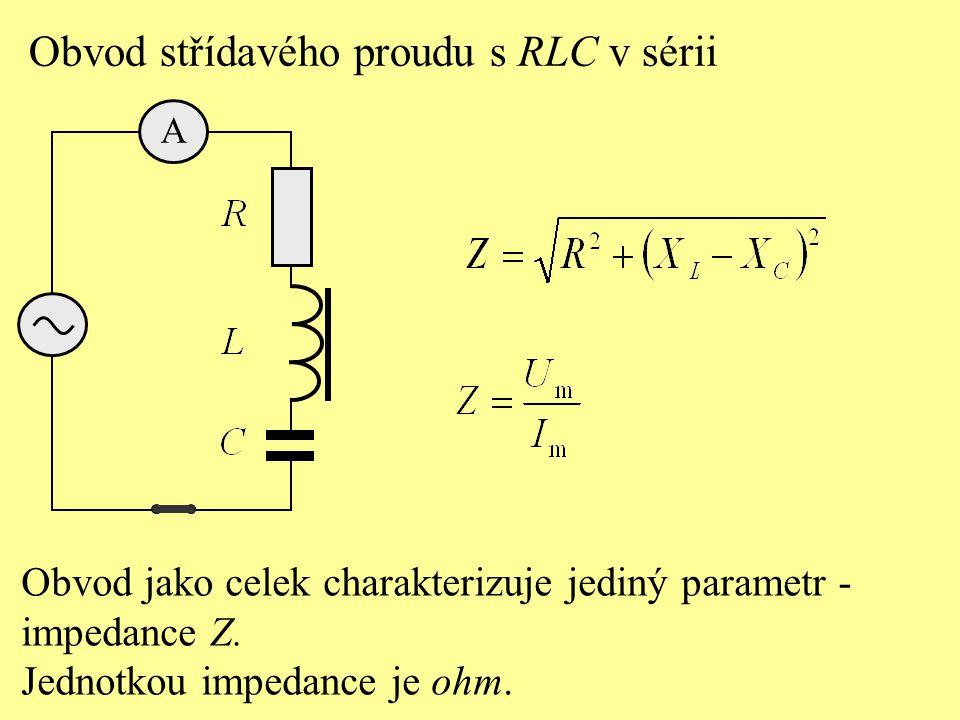 V obvodu střídavého proudu jsou spojeny sériově rezistor s odporem 600 , cívka s indukčností 0,5 H a kondenzátor s kapacitou 0,2  F.