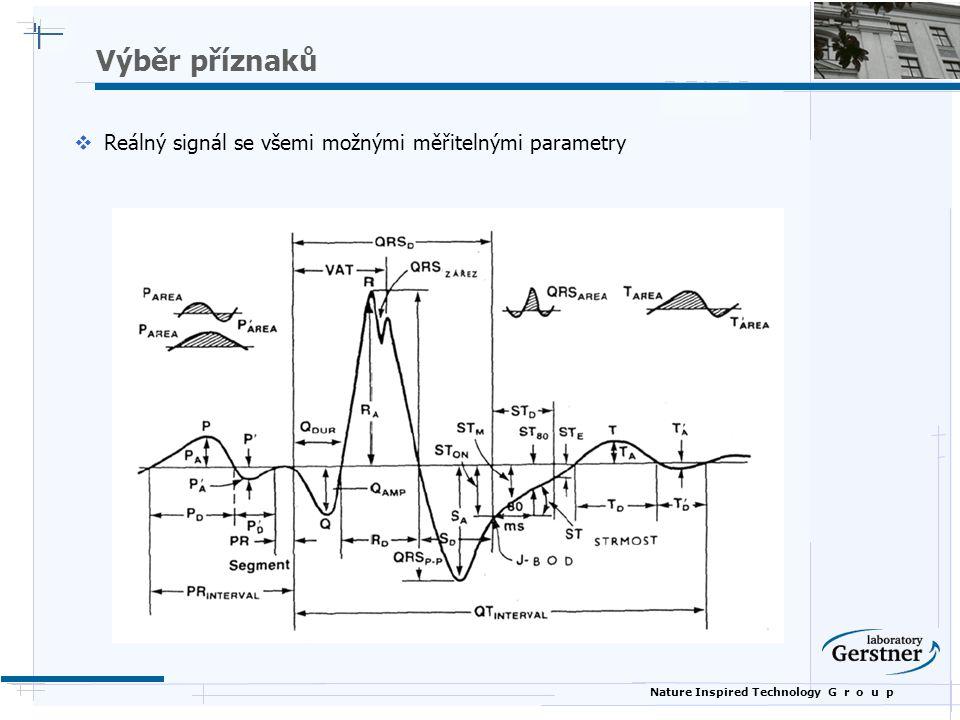 Nature Inspired Technology G r o u p Výběr příznaků  Reálný signál se všemi možnými měřitelnými parametry