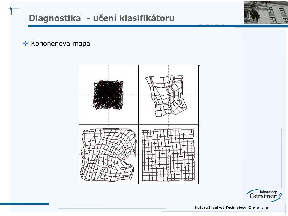 Nature Inspired Technology G r o u p Diagnostika - učení klasifikátoru  Kohonenova mapa