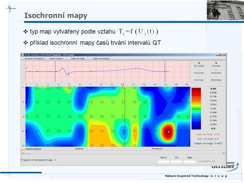 Nature Inspired Technology G r o u p  typ map vytvářený podle vztahu  příklad isochronní mapy časů trvání intervalů QT Isochronní mapy