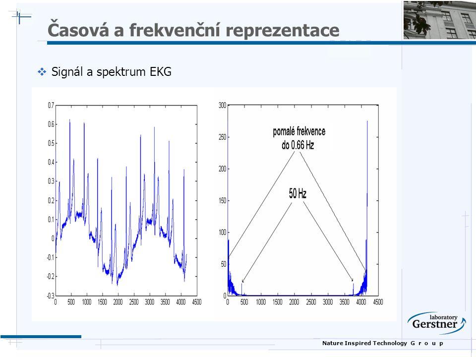 Nature Inspired Technology G r o u p Časová a frekvenční reprezentace  Signál a spektrum EKG