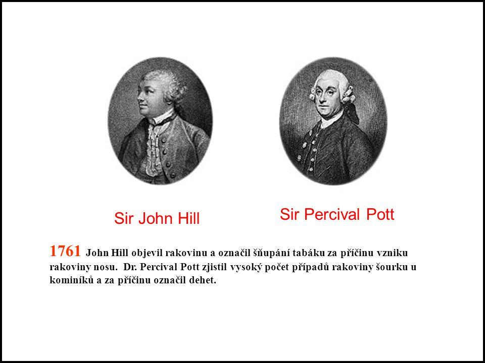 Stručná historie tabáku 1690 - vodný výluh z listů tabáku použit jako insekticid (Francie) 1761- první práce naznačující vztah mezi konzumací tabáku a