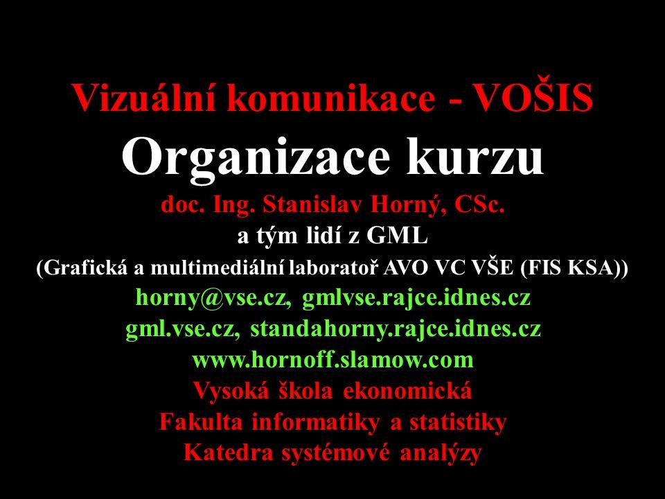 4SA424 Vizuální komunikace - VOŠIS Organizace kurzu doc.