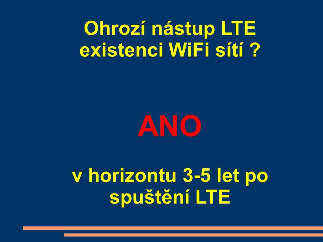 Ohrozí nástup LTE existenci WiFi sítí ? ANO v horizontu 3-5 let po spuštění LTE