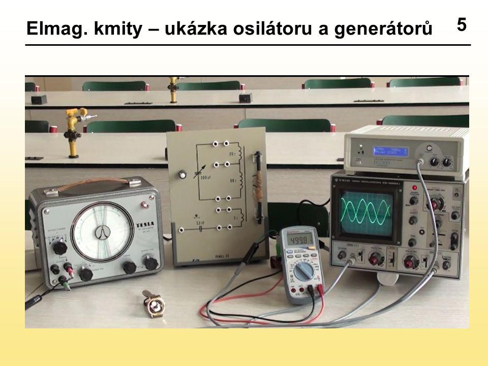 6 Průběh výstupního napětí generátoru frekvence kmitů 2 Hz frekvence kmitů ??? Hz