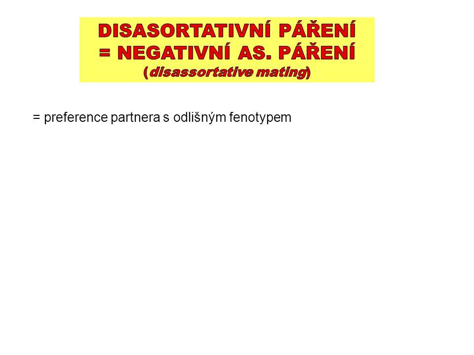 = preference partnera s odlišným fenotypem