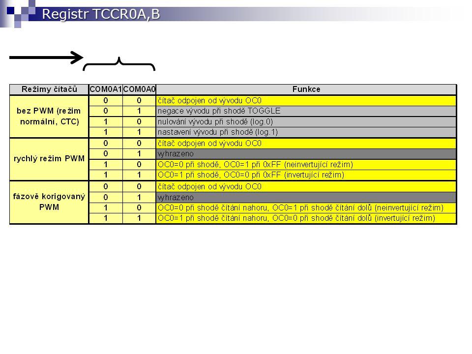 Registr TCCR0A,B