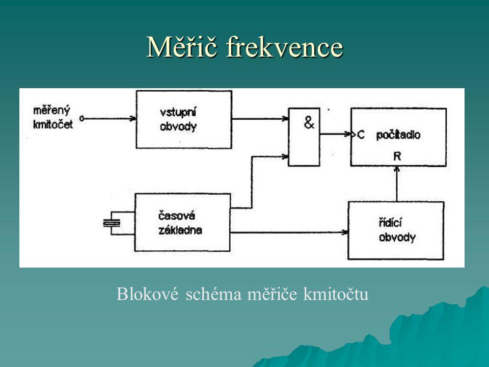Měřič frekvence Blokové schéma měřiče kmitočtu