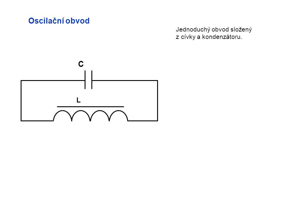 Oscilační obvod L C Jednoduchý obvod složený z cívky a kondenzátoru.