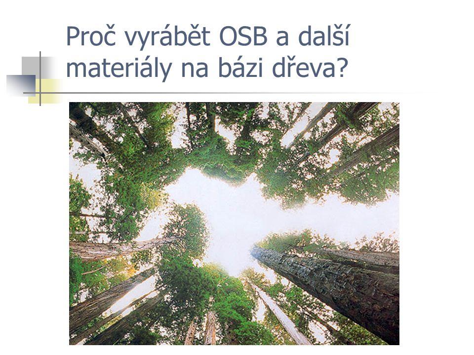 Proč vyrábět OSB a další materiály na bázi dřeva?