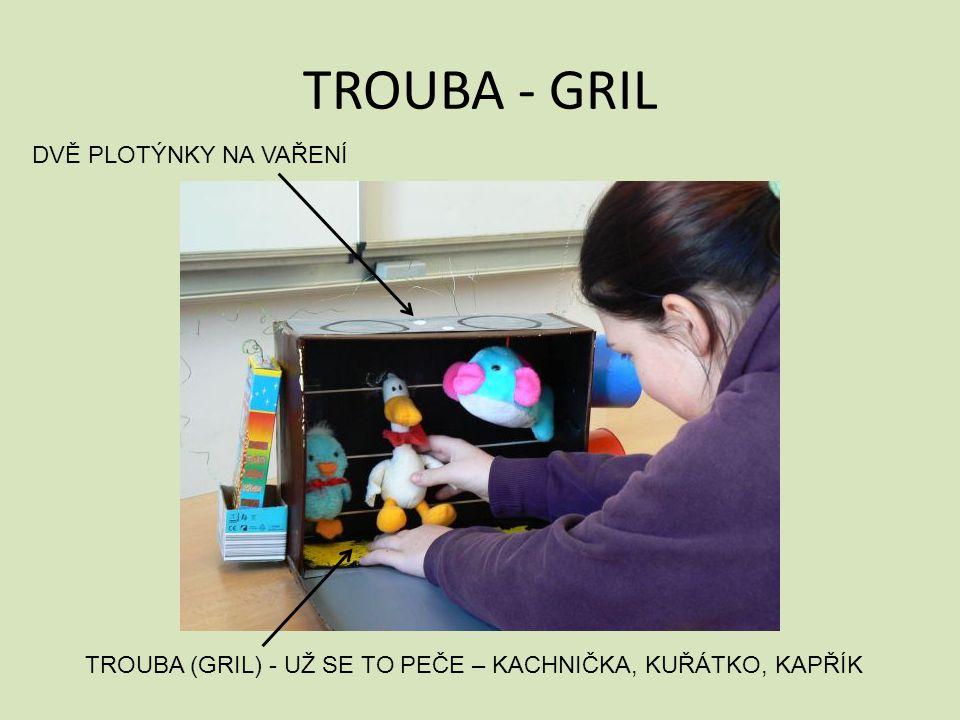 TROUBA - GRIL TROUBA (GRIL) - UŽ SE TO PEČE – KACHNIČKA, KUŘÁTKO, KAPŘÍK DVĚ PLOTÝNKY NA VAŘENÍ