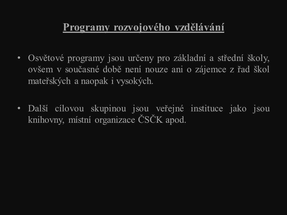 Akce ve školách Setkání s koordinátorkou projektu Adopce afrických dětí na dálku v české škole.