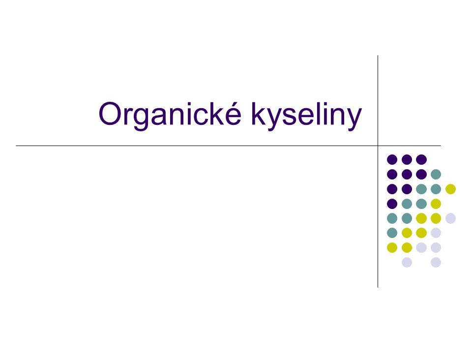 Organické kyseliny