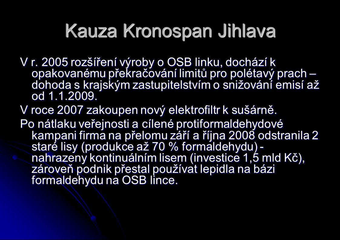 Kauza Kronospan Jihlava V r.