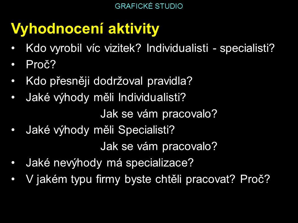 GRAFICKÉ STUDIO Zdroj: SKOŘEPA, Michal; SKOŘEPOVÁ, Eva.