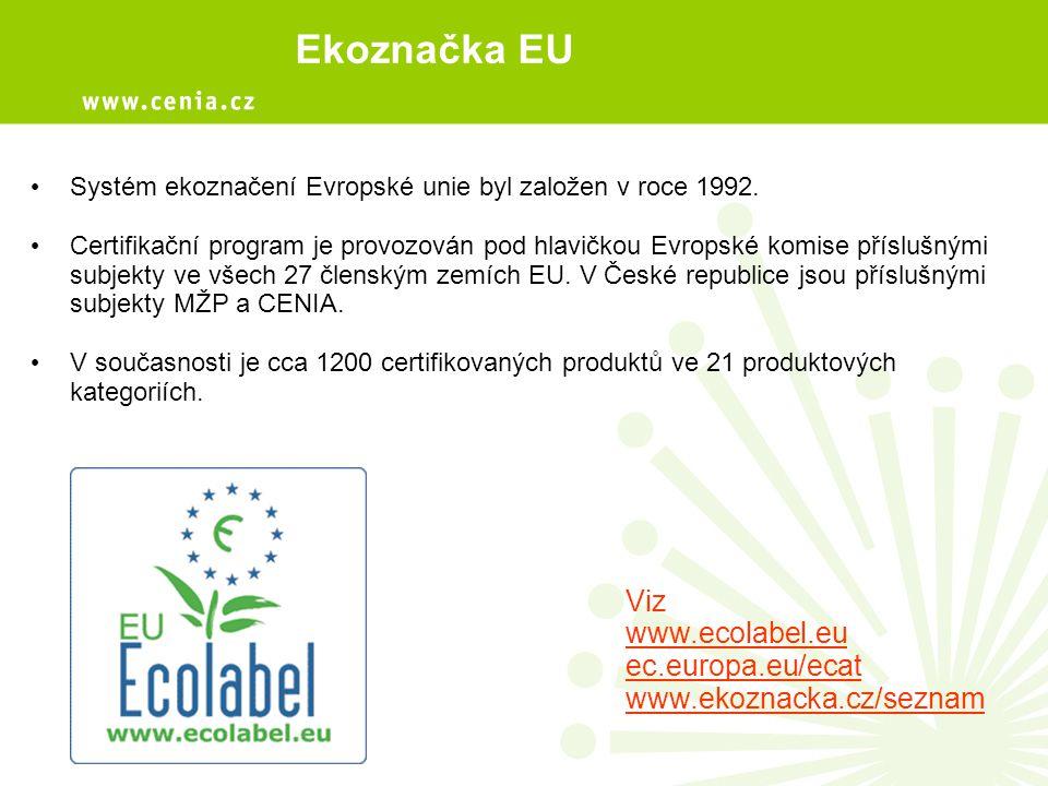 Systém ekoznačení Evropské unie byl založen v roce 1992. Certifikační program je provozován pod hlavičkou Evropské komise příslušnými subjekty ve všec