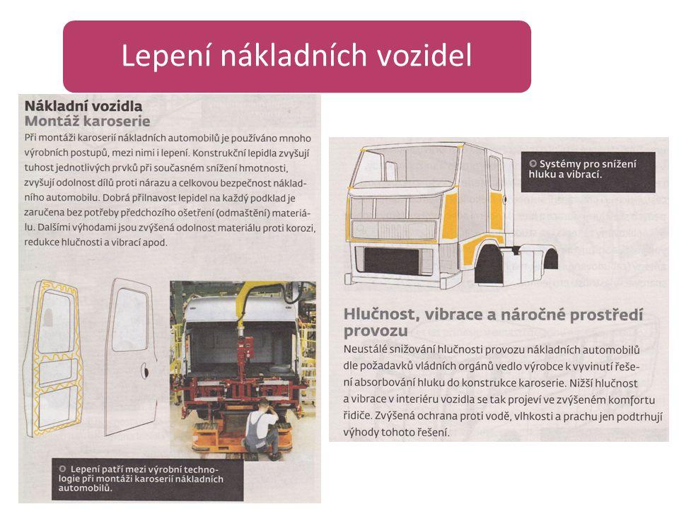Lepení nákladních vozidel