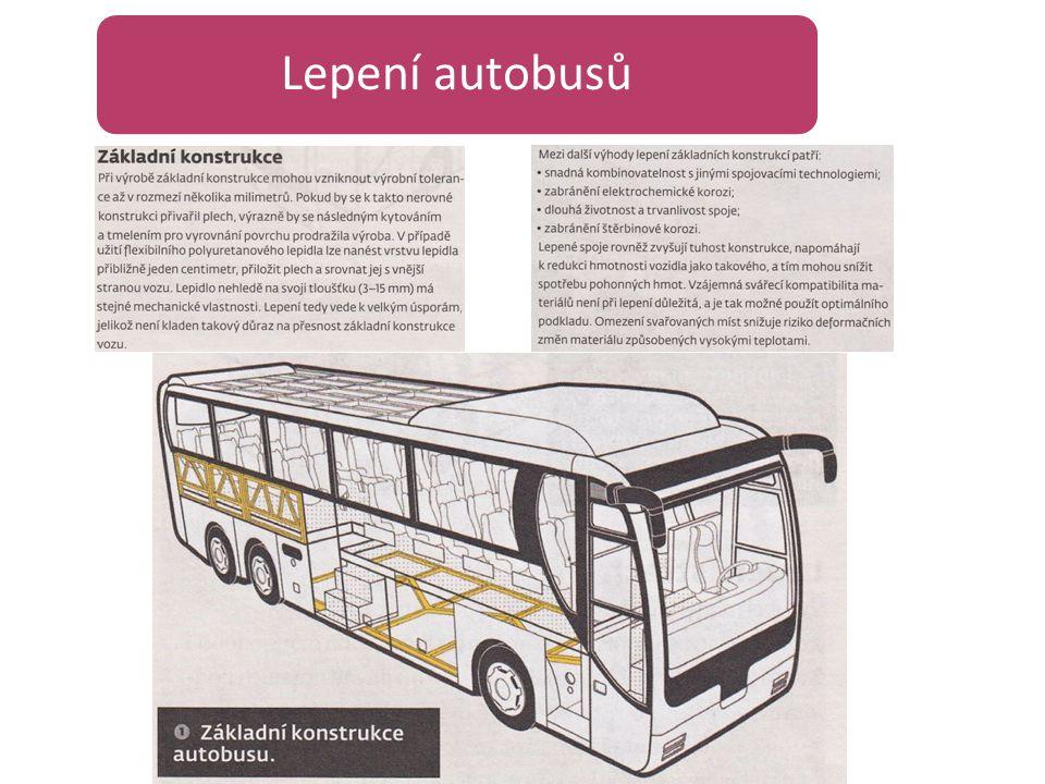 Lepení autobusů