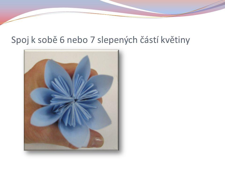 Spoj k sobě 6 nebo 7 slepených částí květiny