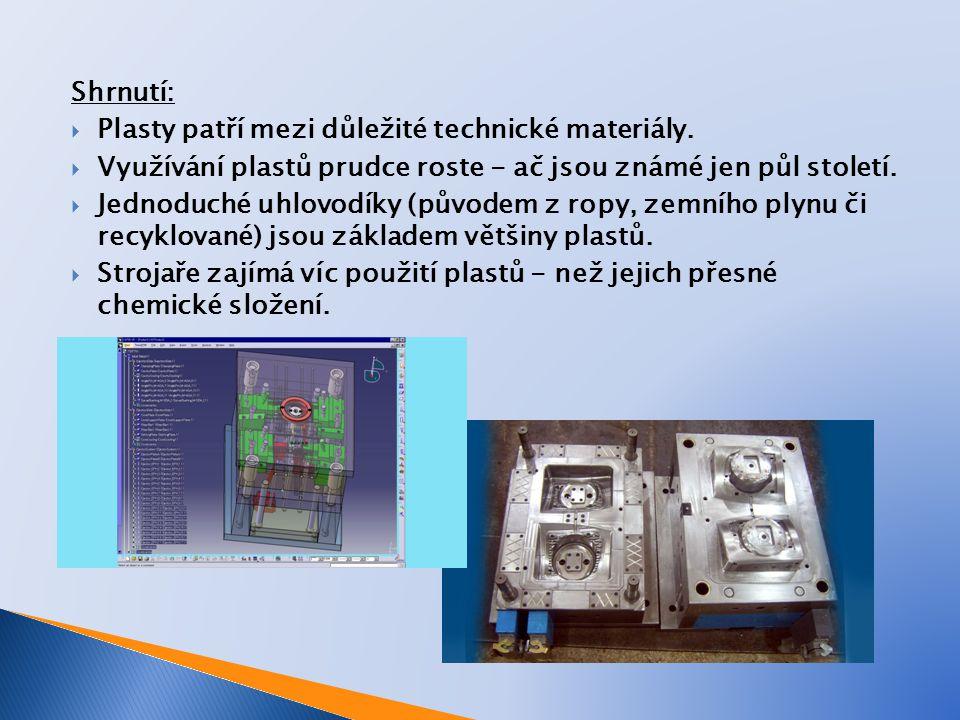 Shrnutí:  Plasty patří mezi důležité technické materiály.
