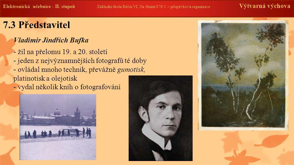 7.3 Představitel Vladimír Jindřich Bufka Elektronická učebnice - II.
