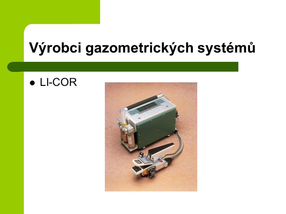 Výrobci gazometrických systémů LI-COR