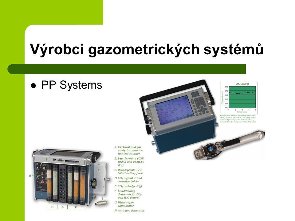 Výrobci gazometrických systémů PP Systems