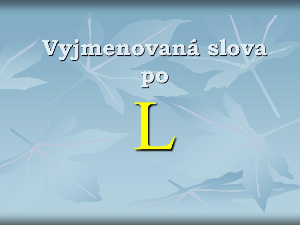 Vyjmenovaná slova po L
